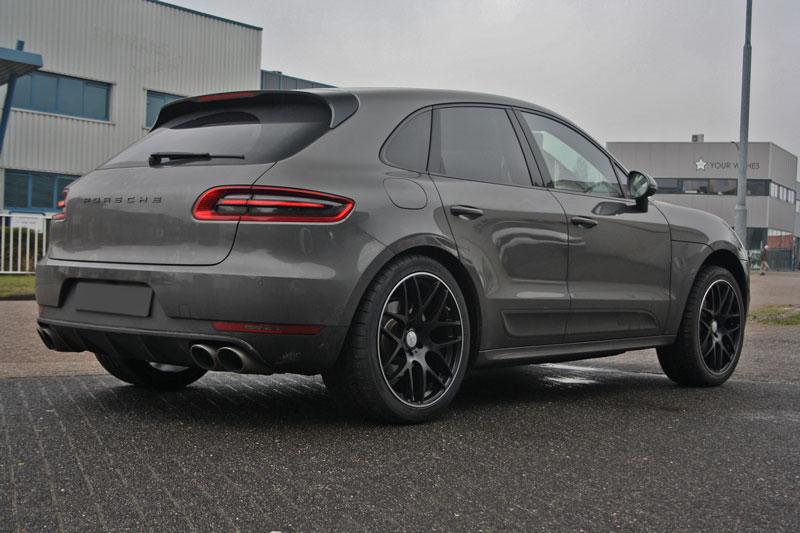 Porsche Macan Met Soleil Lxm 1 Black Polished Velgen Giva Wheels B V