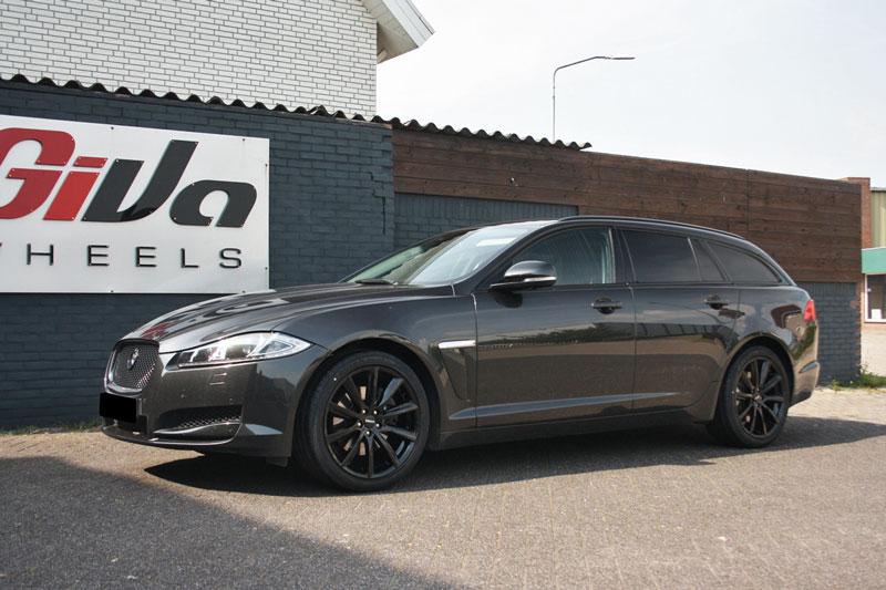 Jaguar Xf Met Monaco Gp6 Matt Black Velgen Giva Wheels
