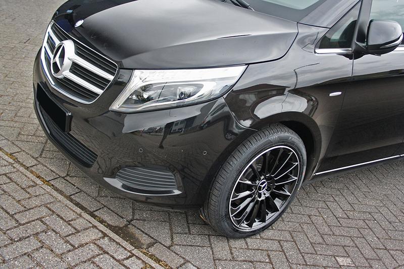 Hedendaags Mercedes-Benz Vito met GMP Stellar Black with polished lip velgen SP-41