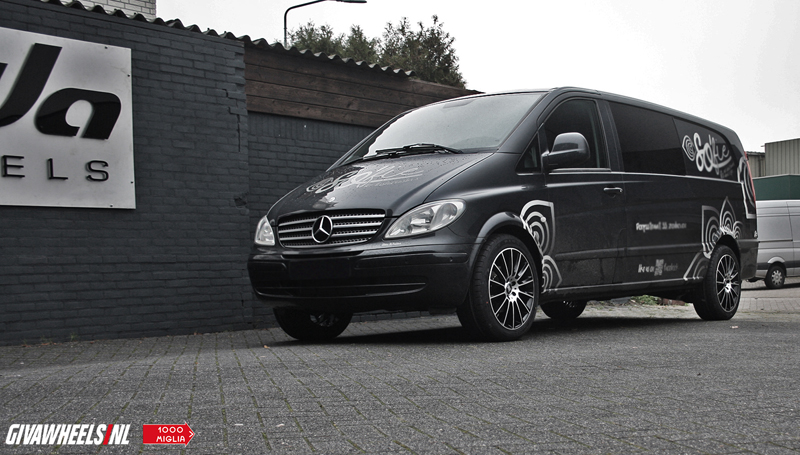 Nieuw Mercedes-Benz Vito met Mille Miglia MM047 Black polished velgen CU-38