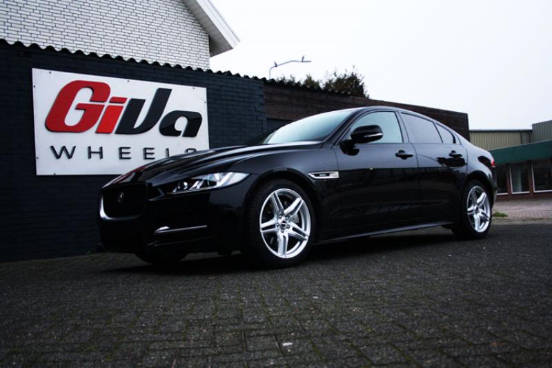 Jaguar Xe Met Borbet Xrt Silver Velgen Giva Wheels Bv