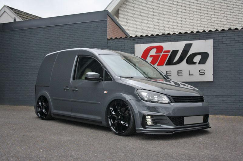 Volkswagen Caddy Met Mbdesign Kx1 Black Velgen Giva Wheels