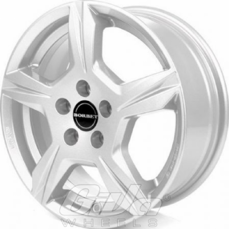 Borbet T10 15 Inch Silver Velgen Voor Een Kia Picanto Giva