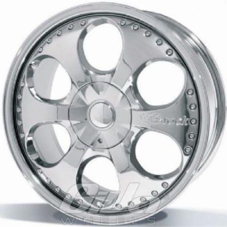Brock B18 Chrome Velgen Voor Een Opel Corsa Giva Wheels