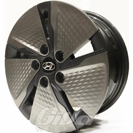 Hyundai Alu plastic disk Black silver