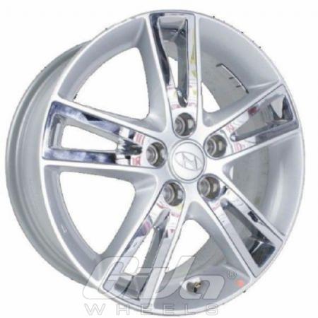 Hyundai 5 Spoke Silver with chrome nserts
