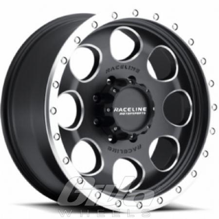 Raceline Wheels Havoc Matt black with milled ring