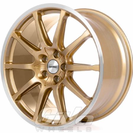 Speedline SC1 Motorismo Gold with polished lip