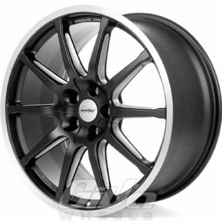 Speedline SC1 Motorismo Matt black with polished lip