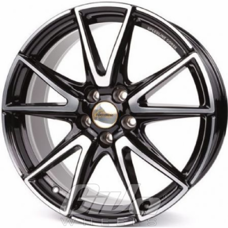 Speedline SL6 Vettore Black with polished face