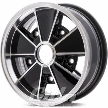 Vintage Wheels Brm Black With Polished Face Velgen Giva